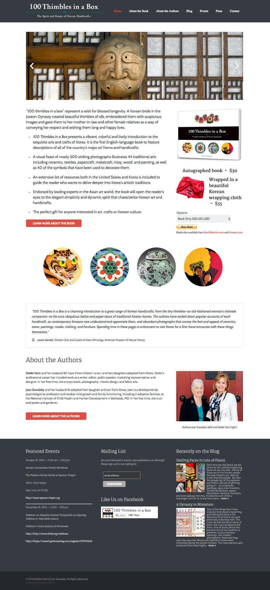 100 Thimbles Book Website