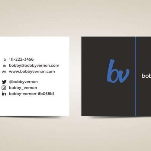 Author Business Cards Design