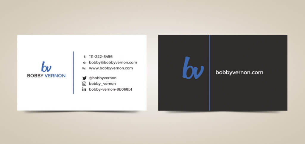 Author Business Cards Design