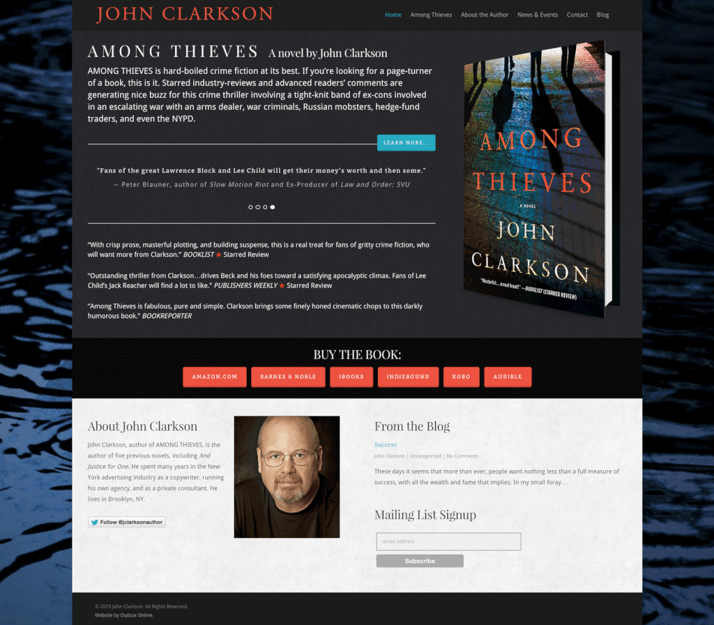 Author Website Design for John Clarkson