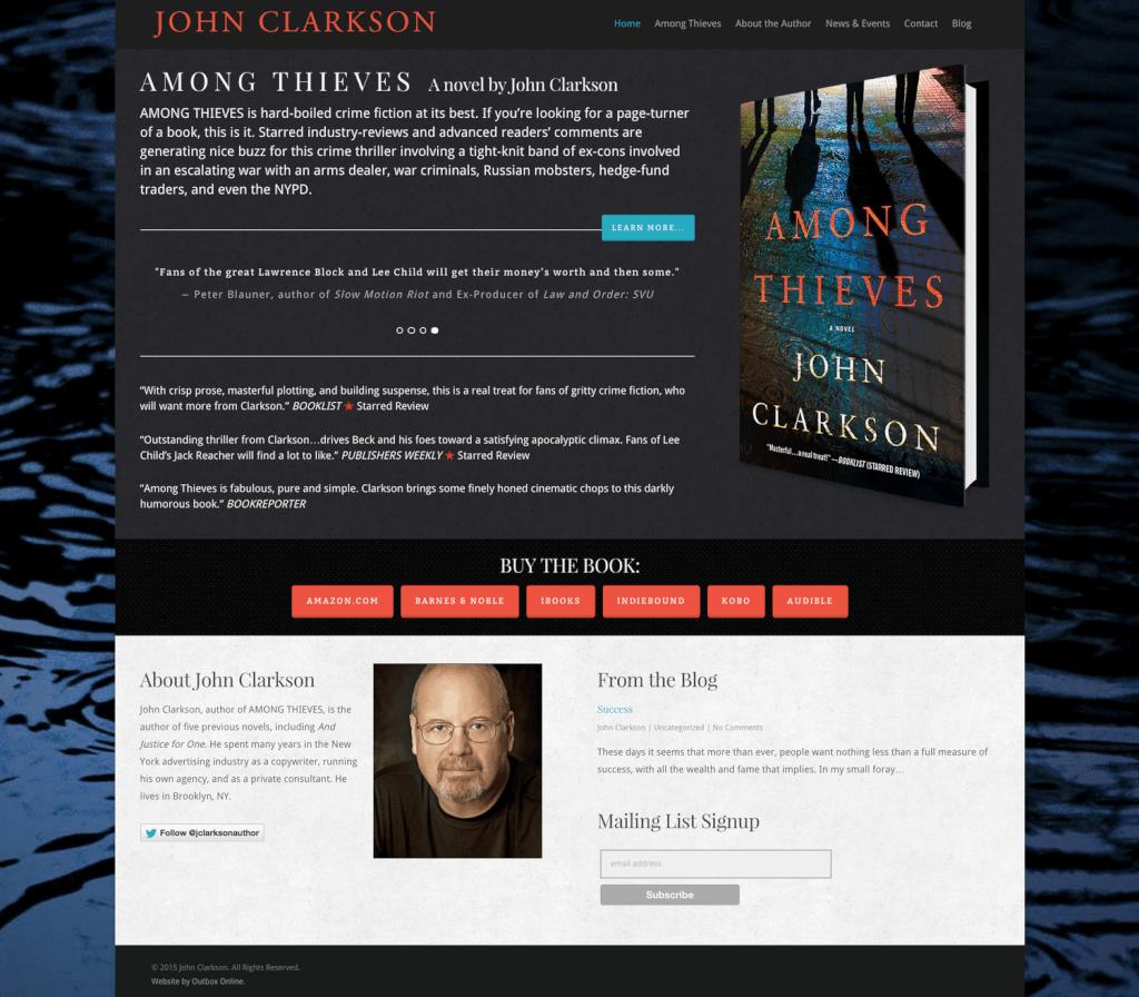 Author Website Design for John Clarkson