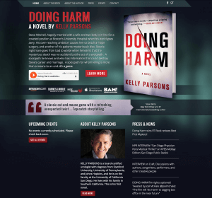 Author Website Design for Kelly Parsons