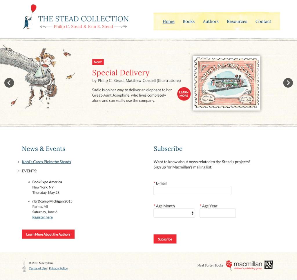 Author Website Design for Erin & Phil Stead