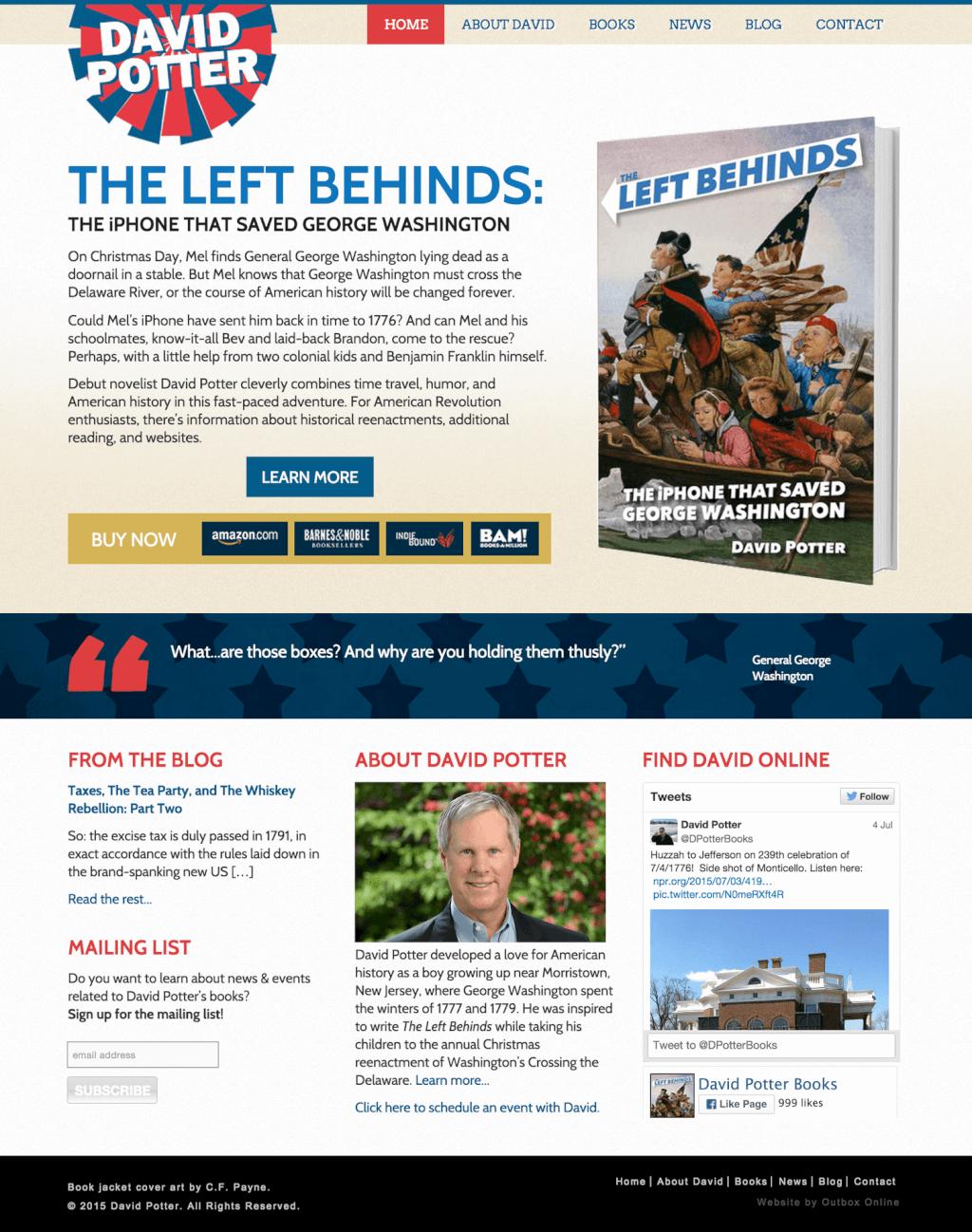 Book Website Design for David Potter