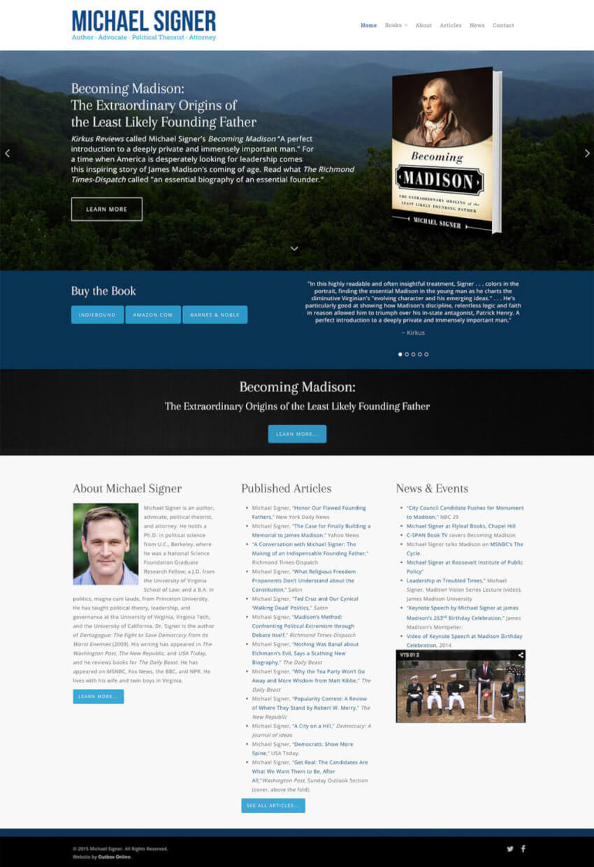 Wordpress Website Design for Books