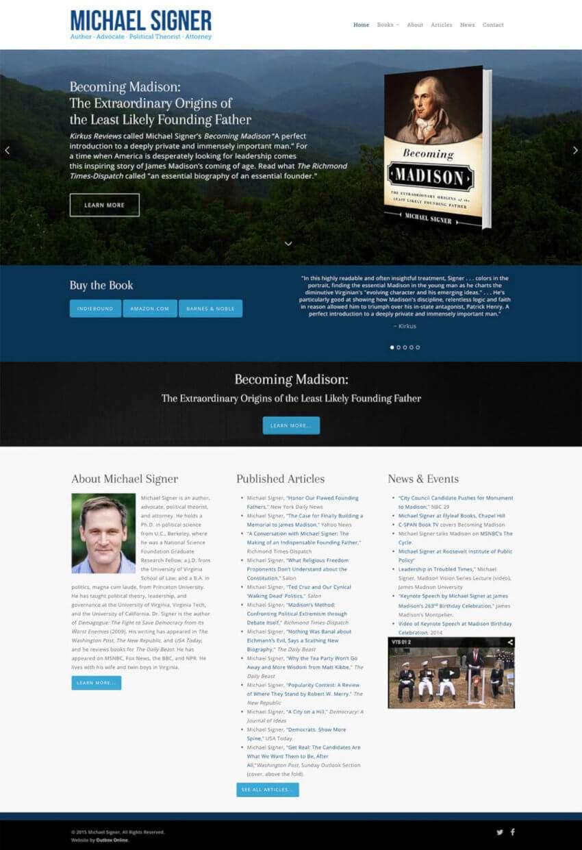 Wordpress Website Design for Books