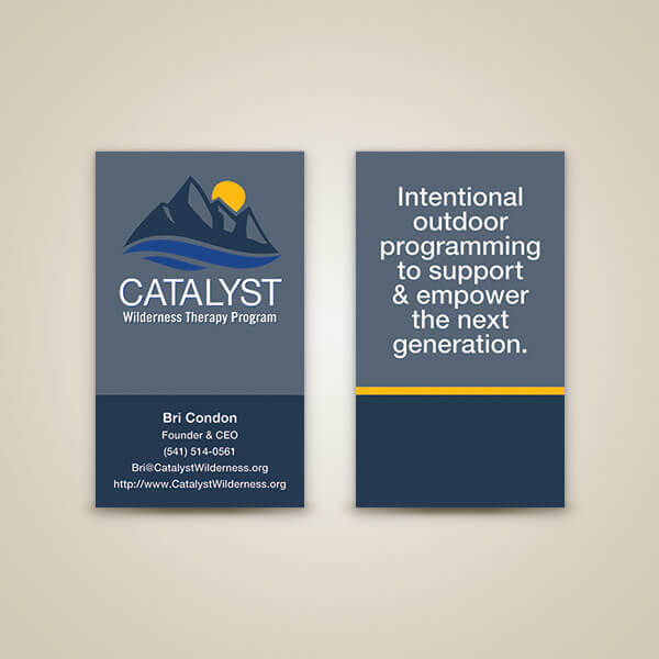 Catalyst Business Card Design