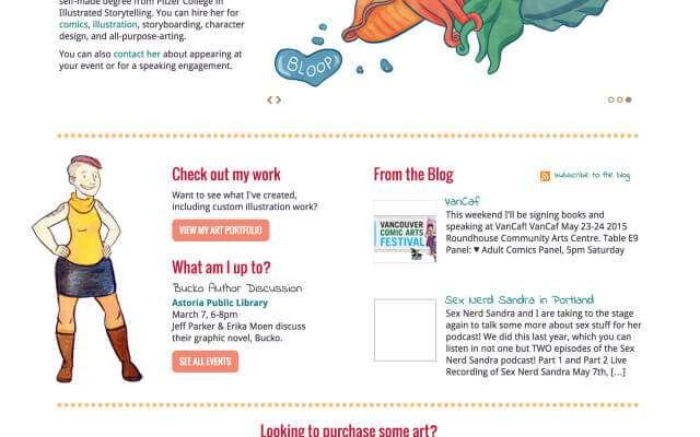 Personal Website Design for Erika Moen