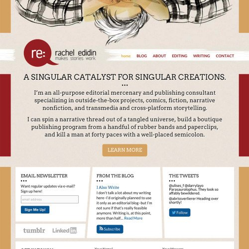 Personal Website Design for Rachel Edidin