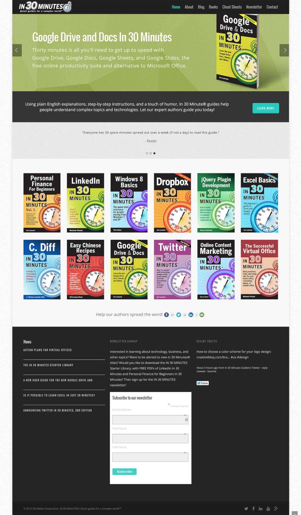 Publisher Website Design for In 30 Minutes