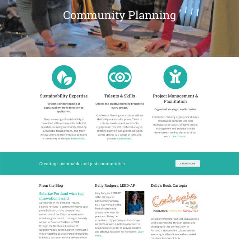 Small Business Website Design for Confluence Planning