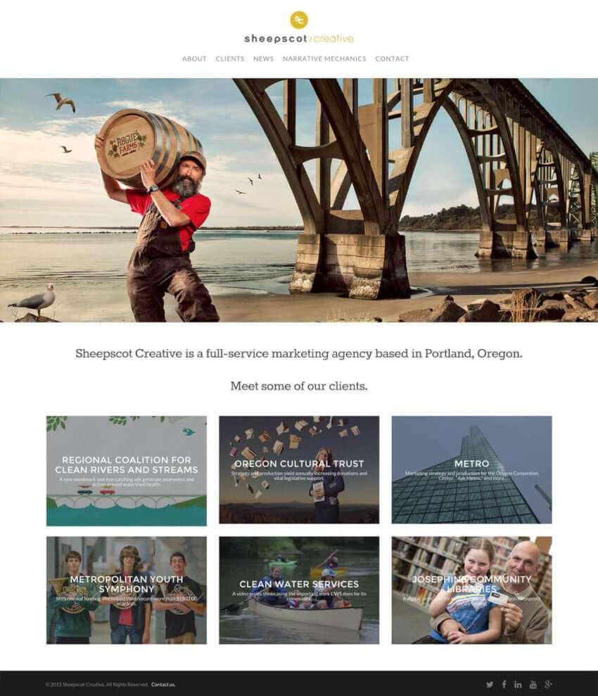 Small Business Website Design for Sheepscot Creative