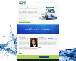 Value of Water Book Website Design