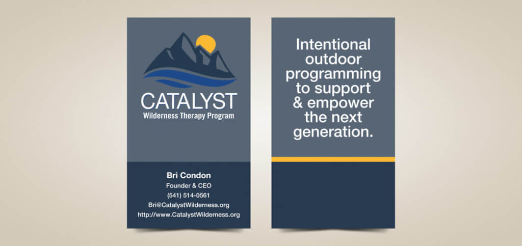 Business card design for catalyst colourmoves