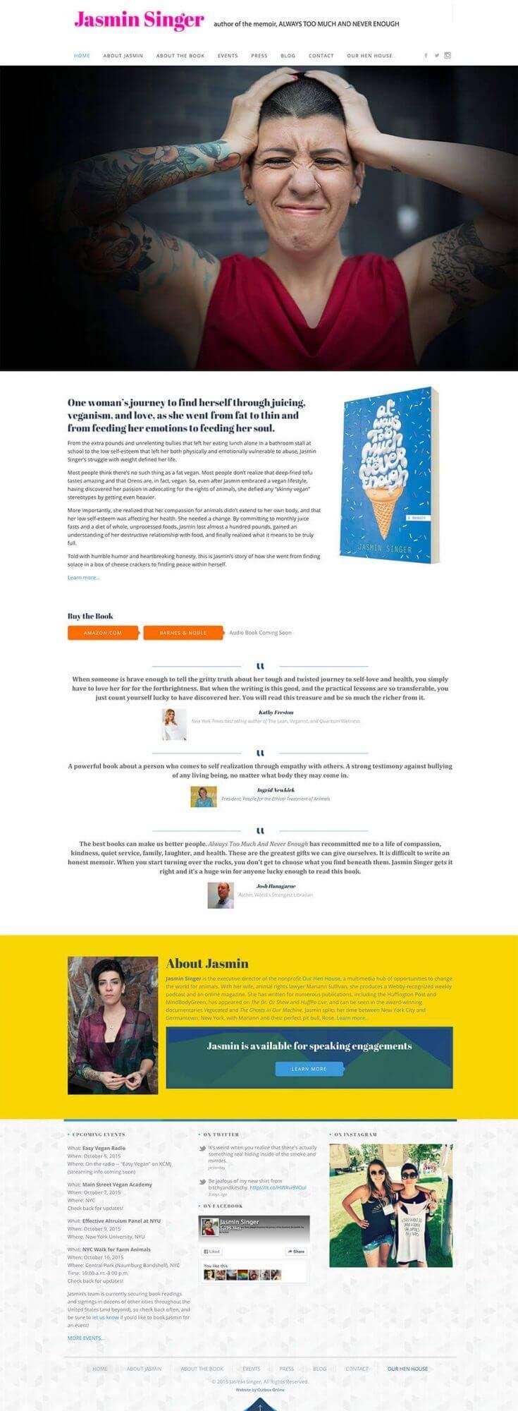 Memoir Website Design