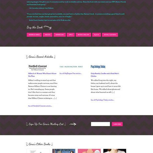 Gina Barreca Author Website Design