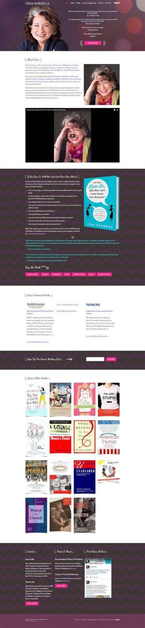 Gina Barreca Author Website Design