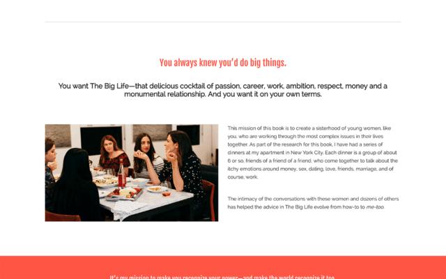 Ann Shoket Book Website Design