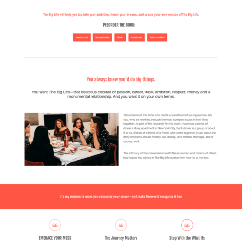 Ann Shoket Book Website Design