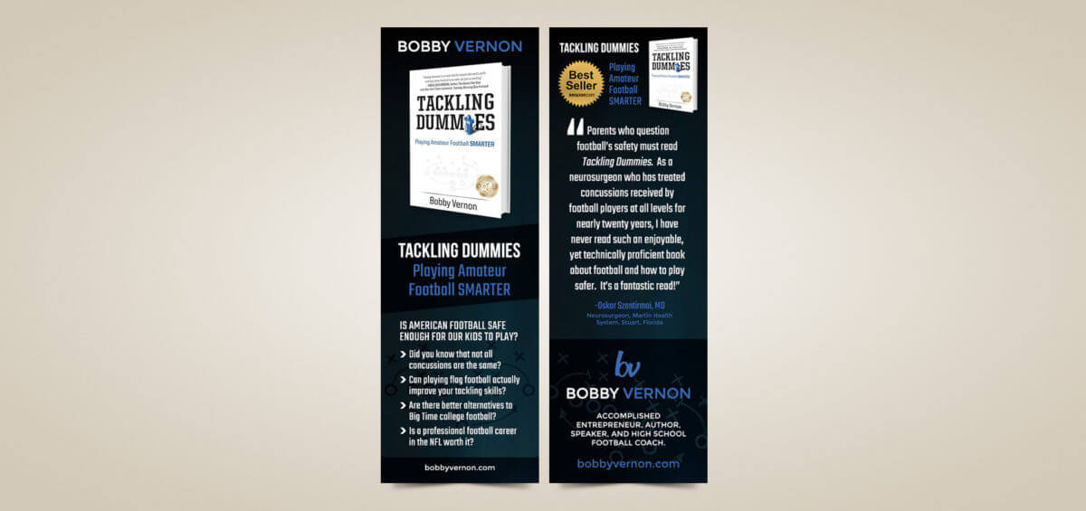 Author Business Cards & Bookmarks for Bobby Vernon