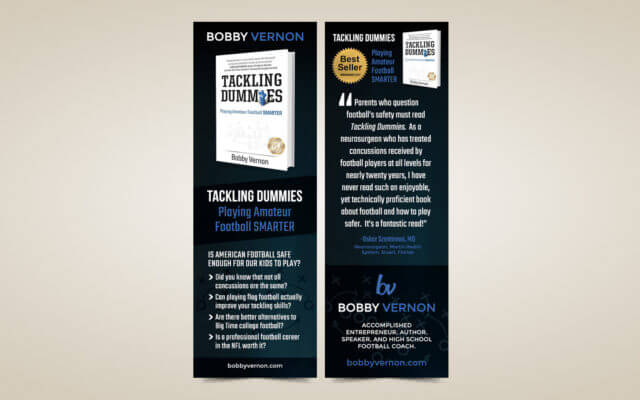 Author Bookmark Marketing Design
