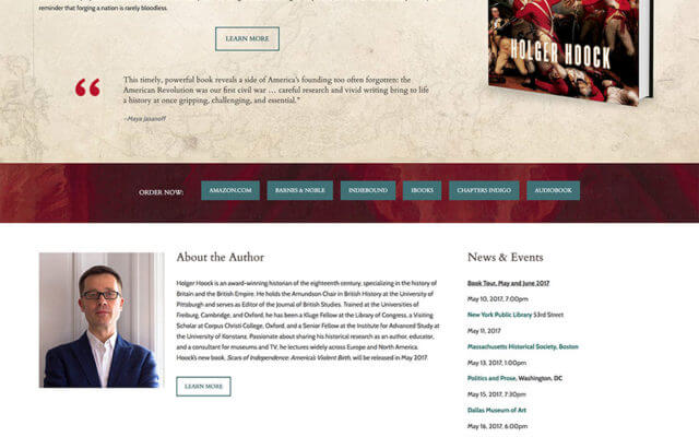 Holger Hoock Author Website Design