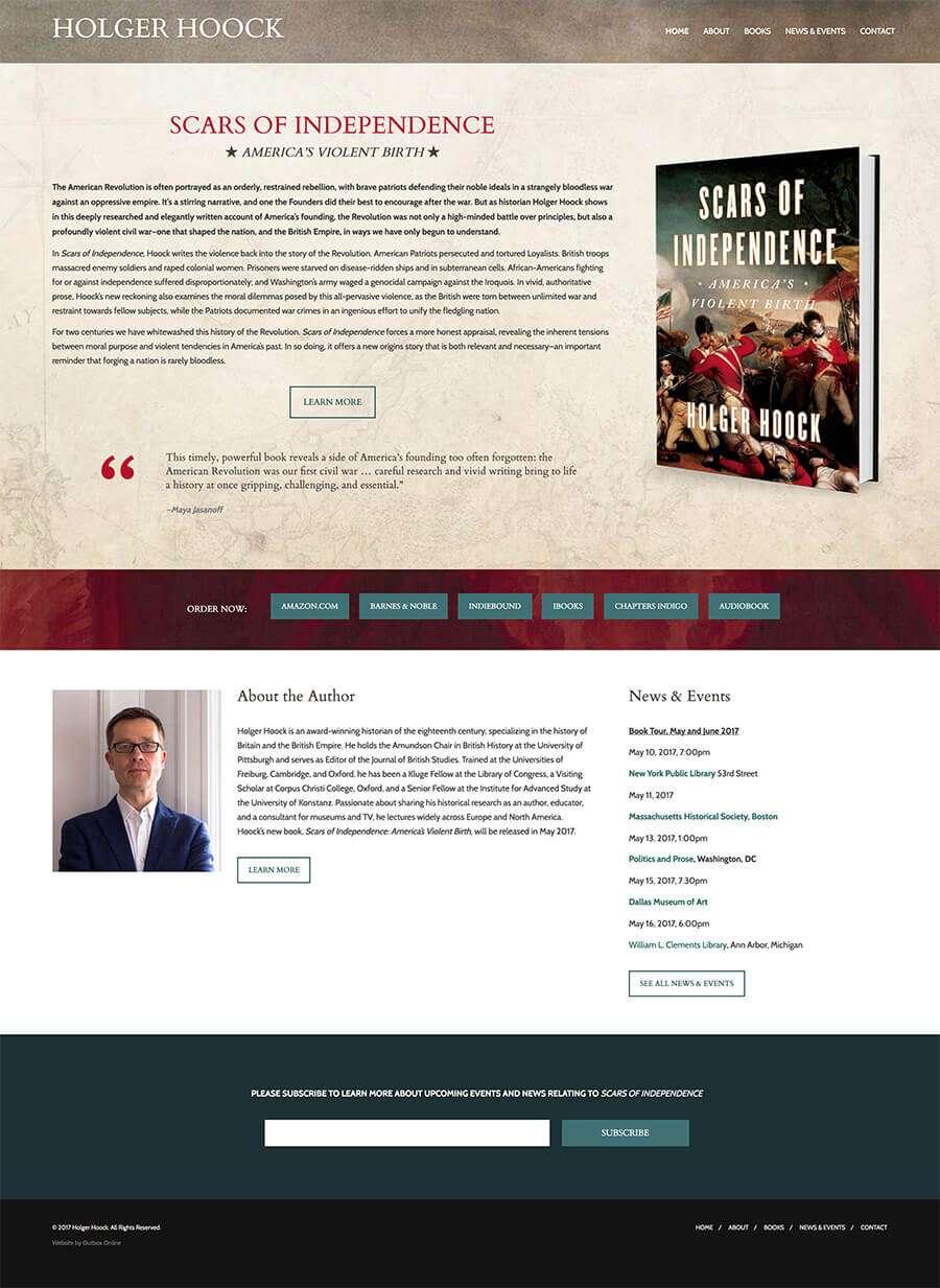 Holger Hoock Author Website Design