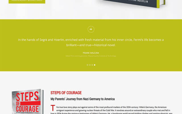 Author Website Design for Bettina Hoerlin