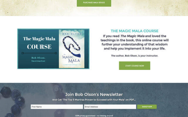 Author Website Design for Bob Olson