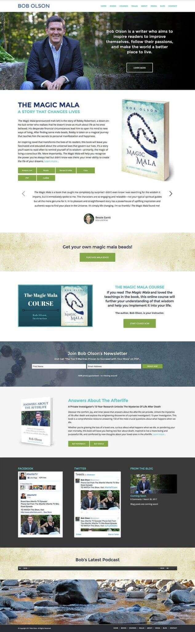 Author Website Design for Bob Olson