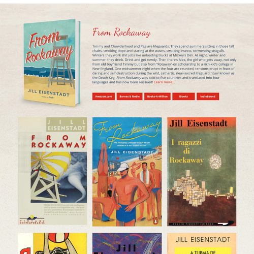 Jill Eisenstadt Author Website Design