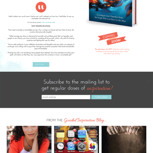 Christina Joubert Author Website Design