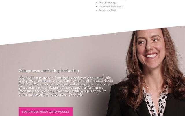 T2M B2B Marketing Website Design