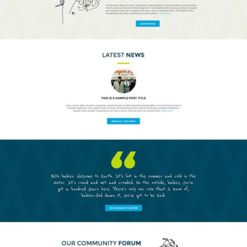 Kurt Vonnegut Author Website Design