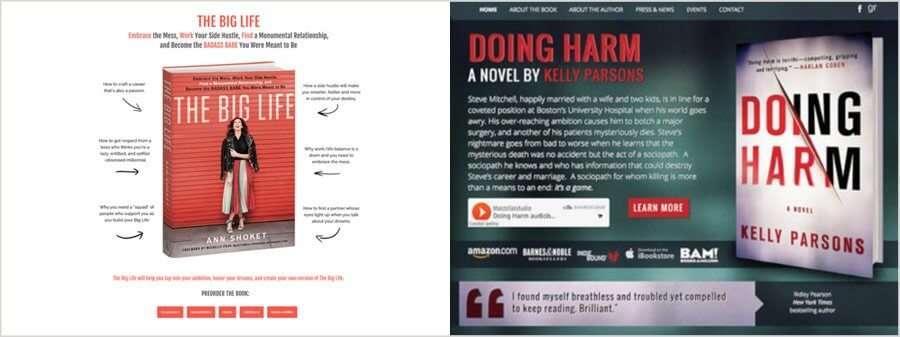 Best Author Website Designs: Be Noticeable
