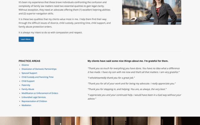 Family Law Website Design Portland Oregon
