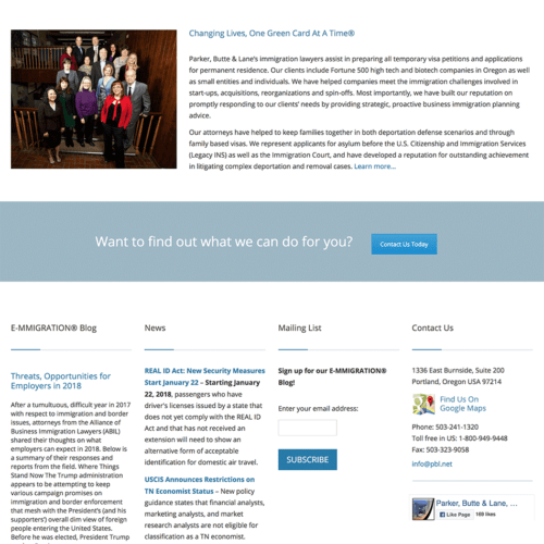Immigration Legal Services Website Design