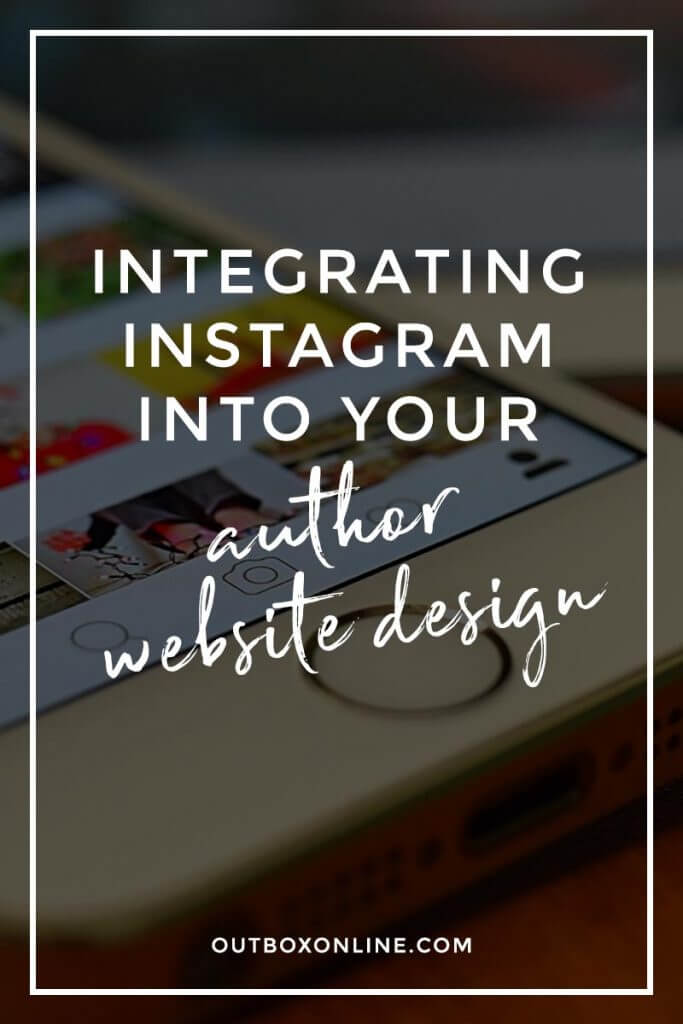 Instagram for Your Author Website Design