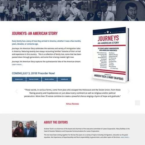 Book Website Designer Journeys: An American Story