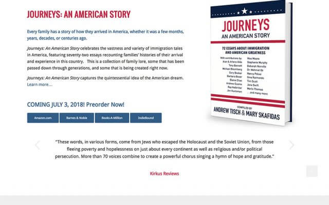 Book Website Designer Journeys: An American Story
