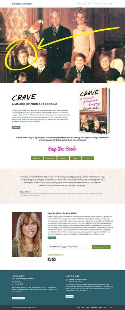 Author Website Design Christine O'Brien