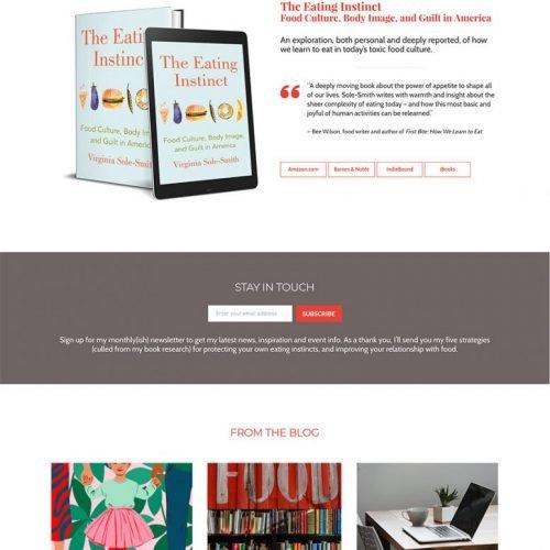 Author Website Design for Virginia Sole-Smith