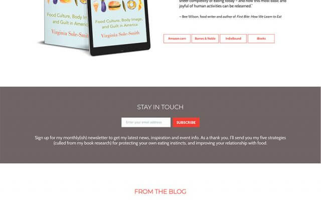 Author Website Design for Virginia Sole-Smith
