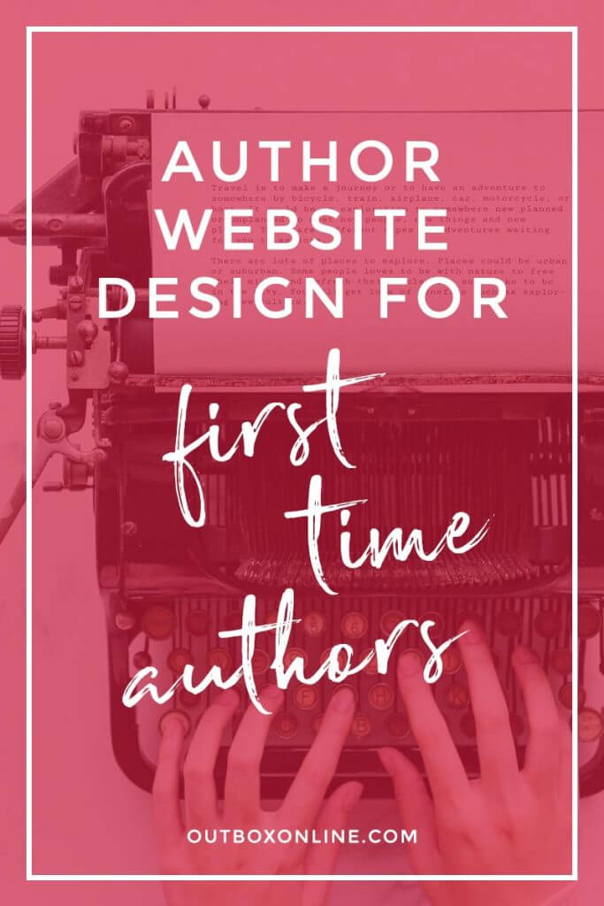Author Website Design for First Time Authors