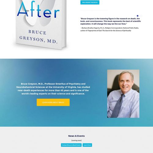 Bruce Greyson Author Website Design