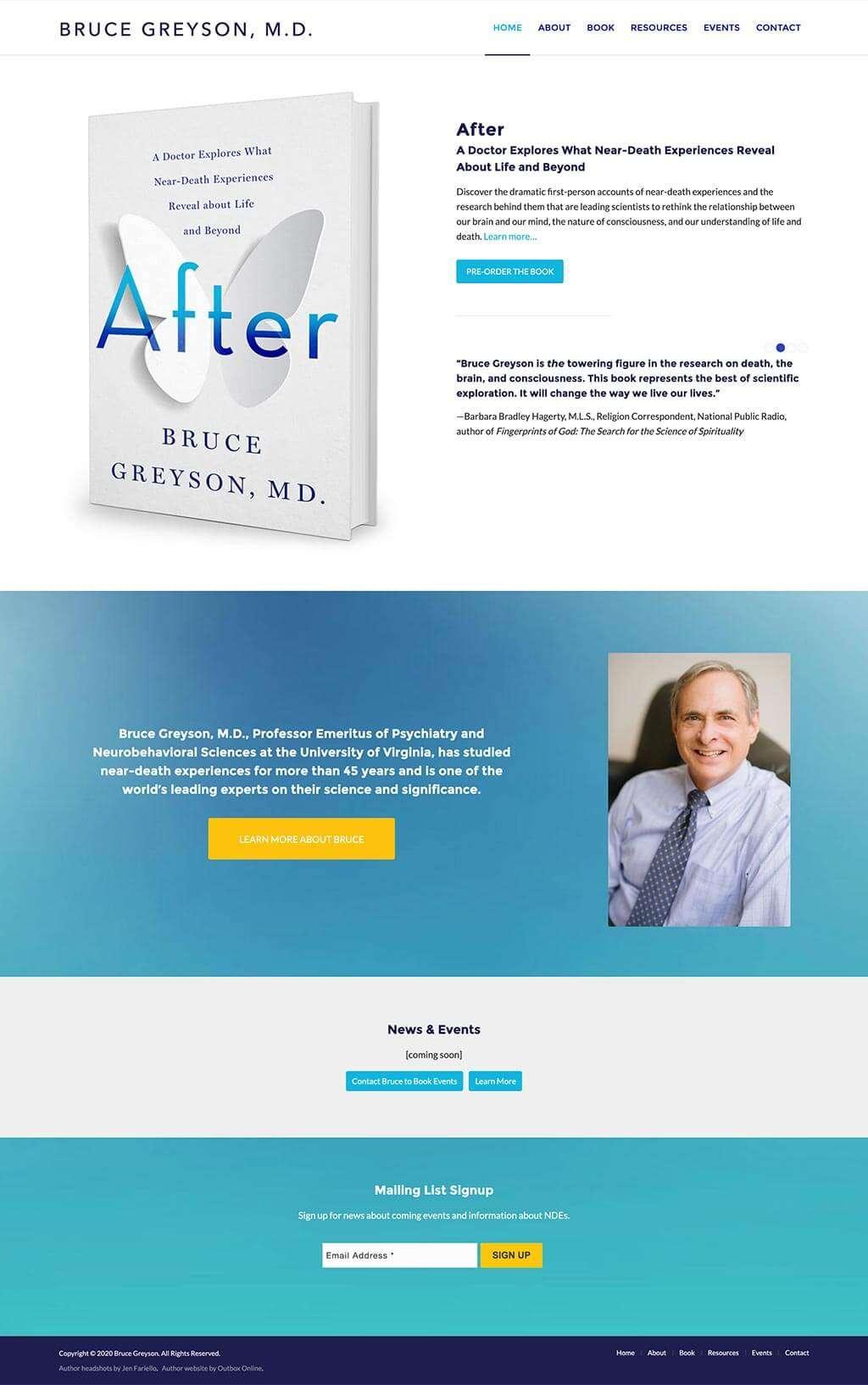 Bruce Greyson Author Website Design