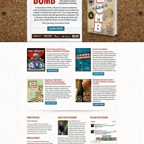 Steve Sheinkin Author Website Design