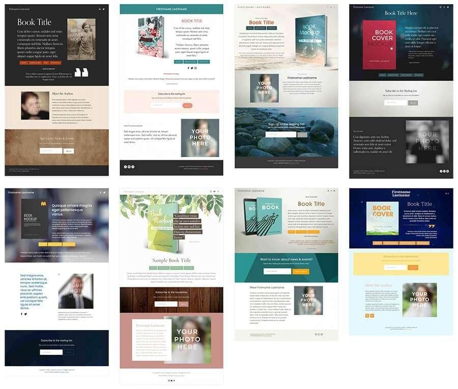 Squarespace Author Landing Page Design