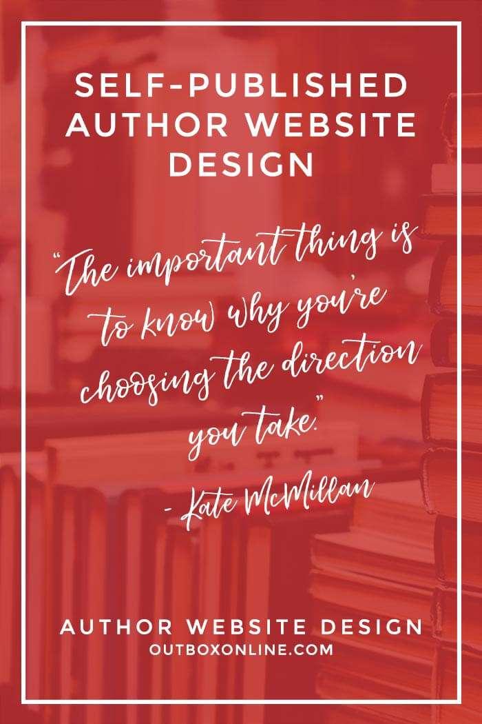 Self-Published Author Website Design