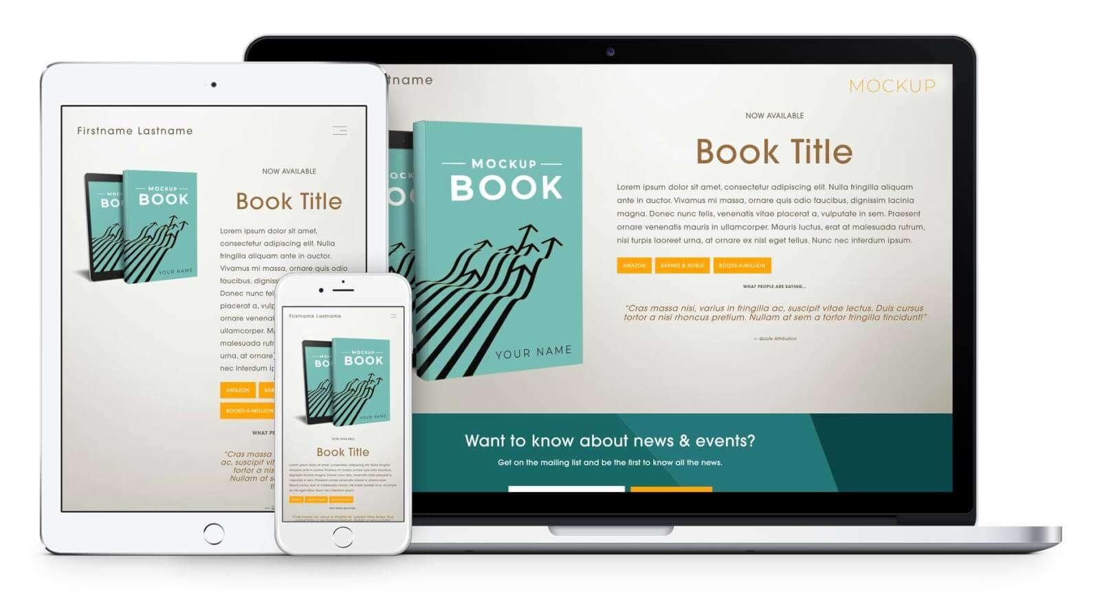 Author Squarespace Template